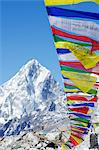 Asia, Nepal, Himalayas, Sagarmatha National Park, Solu Khumbu Everest Region, prayer flags at Everest Base Camp Stock Photo - Premium Rights-Managed, Artist: AWL Images, Code: 862-06542411