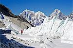 Asia, Nepal, Himalayas, Sagarmatha National Park, Solu Khumbu Everest Region, ice pinnacles near Everest Base Camp Stock Photo - Premium Rights-Managed, Artist: AWL Images, Code: 862-06542429