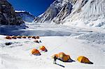 Asia, Nepal, Himalayas, Sagarmatha National Park, Solu Khumbu Everest Region, tents at Camp 1 on Mt Everest Stock Photo - Premium Rights-Managed, Artist: AWL Images, Code: 862-06542460