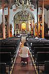Woman praying in Iglesia de la Merced, Leon, Nicaragua, Central America, Stock Photo - Premium Rights-Managed, Artist: AWL Images, Code: 862-06542509