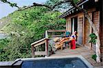 Woman relaxing at Aqua Wellness Resort, Nicaragua, Central America Stock Photo - Premium Rights-Managed, Artist: AWL Images, Code: 862-06542583
