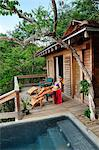 Woman relaxing at the Aqua Wellness Resort, Nicaragua, Central America Stock Photo - Premium Rights-Managed, Artist: AWL Images, Code: 862-06542602