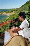 Woman having a massage at the Aqua Wellness Resort, Nicaragua, Central America Stock Photo - Premium Rights-Managed, Artist: AWL Images, Code: 862-06542605