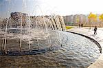 Arganzuela park and fountain in Madrid Rio, Madrid, Spain. Stock Photo - Premium Rights-Managed, Artist: AWL Images, Code: 862-06542756