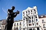 Statue of Garcia Lorca in Plaza de Santa Ana square, Barrio de las Letras, Madrid, Spain, Europe Stock Photo - Premium Rights-Managed, Artist: AWL Images, Code: 862-06542787