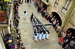 Santiago de Compostela, Galicia, Northern Spain, Elevated view of procession on Good Friday in the historic centre Stock Photo - Premium Rights-Managed, Artist: AWL Images, Code: 862-06542796