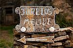 Spain, Galicia, Camino Frances, A sign of a small village on the Galician route of the Camino Stock Photo - Premium Rights-Managed, Artist: AWL Images, Code: 862-06542826