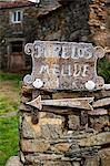 Spain, Galicia, Camino Frances, A sign of a small village on the Galician route of the Camino Stock Photo - Premium Rights-Managed, Artist: AWL Images, Code: 862-06542827