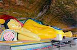 Sri Lanka, Southern Province, Mulkirigala rock temple, sleeping Buddha statue, 3rd century BC Stock Photo - Premium Rights-Managed, Artist: AWL Images, Code: 862-06542997