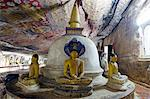 Sri Lanka, North Central Province, Dambulla, Golden Temple, UNESCO World Heritage Site, Royal Rock Temple, Buddha statues in Cave 2 Stock Photo - Premium Rights-Managed, Artist: AWL Images, Code: 862-06543010