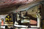 Sri Lanka, North Central Province, Dambulla, Golden Temple, UNESCO World Heritage Site, Royal Rock Temple, Buddha statues in Cave 2 Stock Photo - Premium Rights-Managed, Artist: AWL Images, Code: 862-06543013