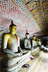 Sri Lanka, North Central Province, Dambulla, Golden Temple, UNESCO World Heritage Site, Royal Rock Temple, Buddha statues in Cave 2 Stock Photo - Premium Rights-Managed, Artist: AWL Images, Code: 862-06543015
