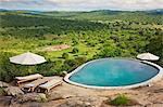 The superb view from Mihingo Lodge which is situated on an extensive rock outcrop just outside Lake Mburo National park, Uganda, Africa Stock Photo - Premium Rights-Managed, Artist: AWL Images, Code: 862-06543296