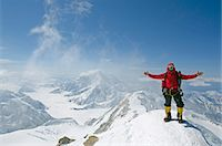 USA, United States of America, Alaska, Denali National Park, climber on Mt McKinley 6194m, highest mountain in north America , MR, Stock Photo - Premium Rights-Managednull, Code: 862-06543335