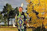Jasmine Pickner in traditional dress, Oglala Lakota, South Dakota, USA MR Stock Photo - Premium Rights-Managed, Artist: AWL Images, Code: 862-06543405