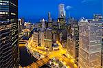 USA, Illinois, Chicago. Dusk view over the city. Stock Photo - Premium Rights-Managed, Artist: AWL Images, Code: 862-06543414