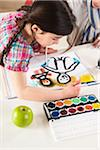 Girl and Boy Painting in Classroom Stock Photo - Premium Royalty-Free, Artist: Uwe Umsttter, Code: 600-06543550