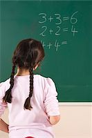 Girl Answering Question at Blackboard in Classroom, Baden-Wurttemberg, Germany Stock Photo - Premium Royalty-Freenull, Code: 600-06548615