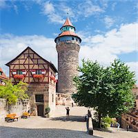 Tower at Nuremberg Imperial Castle Kaiserburg, Nuremberg, Middle Franconia, Bavaria, Germany Stock Photo - Premium Rights-Managednull, Code: 700-06553343
