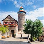 Tower at Nuremberg Imperial Castle Kaiserburg, Nuremberg, Middle Franconia, Bavaria, Germany Stock Photo - Premium Rights-Managed, Artist: Siephoto, Code: 700-06553343