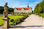 Statue and Formal Garden in front of Weikersheim Castle, Weikersheim, Baden-Wurttemberg, Germany Stock Photo - Premium Rights-Managed, Artist: Siephoto, Code: 700-06553369
