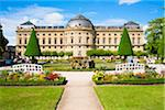 Wuerzburg Residence and Hofgarten (court gardens), Wuerzburg, Lower Franconia, Bavaria, Germany Stock Photo - Premium Rights-Managed, Artist: Siephoto, Code: 700-06553382