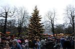 Christmas Market at the Chinese Tower (Christkindlmarkt am Chinesischen Turm) in the English Garden, Munich, Bavaria, Germany Stock Photo - Premium Rights-Managed, Artist: David & Micha Sheldon, Code: 700-06553521