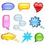 Vector illustration of speech bubble on white background Stock Photo - Royalty-Free, Artist: Filata                        , Code: 400-06554355