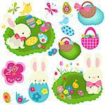 happy easter set Stock Photo - Royalty-Free, Artist: dip                           , Code: 400-06555193