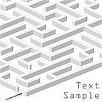 3d maze on white background Stock Photo - Royalty-Free, Artist: dip                           , Code: 400-06555524