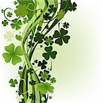 design for St. Patrick's Day with four and three leaf clovers Stock Photo - Royalty-Free, Artist: dip                           , Code: 400-06556091