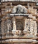 Ancient Sun Temple in Ranakpur. Jain Temple Carving.  Ranakpur, Rajasthan, Pali District, Udaipur, India. Asia. Stock Photo - Royalty-Free, Artist: photoff                       , Code: 400-06557316