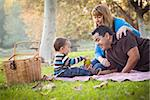 Happy Young Mixed Race Ethnic Family Having a Picnic In The Park. Stock Photo - Royalty-Free, Artist: Feverpitched                  , Code: 400-06557385
