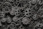 many old rusty metal gears or machine parts Stock Photo - Royalty-Free, Artist: andrey_kuzmin                 , Code: 400-06558703