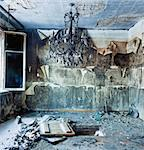 old abandoned burned interior photo Stock Photo - Royalty-Free, Artist: vicnt                         , Code: 400-06559249
