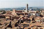 Aerial View on Siena and Santa Maria Cathedral, Tuscany, Italy Stock Photo - Royalty-Free, Artist: anshar                        , Code: 400-06560605