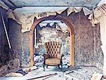 old abandoned burned interior photo Stock Photo - Royalty-Free, Artist: vicnt                         , Code: 400-06560876