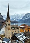 Winter Alpine Hallstatt Town and lake Hallstatter See view (Austria) Stock Photo - Royalty-Free, Artist: Yuriy                         , Code: 400-06561873