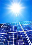 Renewable, alternative solar energy, sun-power plant on sky background Stock Photo - Royalty-Free, Artist: ssuaphoto                     , Code: 400-06562625