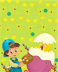 Happy and colorful illustration for the children Stock Photo - Royalty-Free, Artist: honeyflavour                  , Code: 400-06562646
