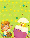 Happy and colorful illustration for the children Stock Photo - Royalty-Free, Artist: honeyflavour                  , Code: 400-06562649