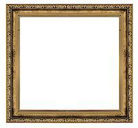 golden frame isolated on white background Stock Photo - Royalty-Freenull, Code: 400-06565167