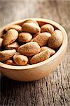 the almonds in wooden bowl Stock Photo - Royalty-Free, Artist: jirkaejc                      , Code: 400-06565207