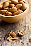 the almonds in wooden bowl Stock Photo - Royalty-Free, Artist: jirkaejc                      , Code: 400-06565208