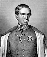 franxyz - Franz Joseph I of Austria (1830-1916) on engraving from 1859. Emperor of Austria. Engraved by unknown artist and published in Meyers Konversations-Lexikon, Germany,1859. Stock Photo - Royalty-Freenull, Code: 400-06565266