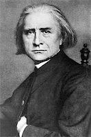 franxyz - Franz Liszt (1811-1886) on engraving from 1908. Hungarian composer, pianist, conductor and teacher. Engraved by unknown artist and published in