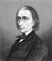 franxyz - Franz Liszt (1811-1886) on engraving from 1859. Hungarian composer, pianist, conductor and teacher. Engraved by unknown artist and published in Meyers Konversations-Lexikon, Germany,1859. Stock Photo - Royalty-Freenull, Code: 400-06565268