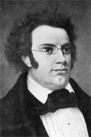 franxyz - Franz Schubert (1797-1828) on engraving from 1908. Austrian composer. Engraved by unknown artist and published in