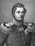 Frederick William IV of Prussia (1795-1861) on engraving from 1859. King of Prussia during 1840-1861. Engraved by unknown artist and published in Meyers Konversations-Lexikon, Germany,1859. Stock Photo - Royalty-Free, Artist: Georgios                      , Code: 400-06565277