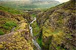 Canyon leading to Glymur, the highest of the Icelandic waterfalls. It is located on the west of the island. Stock Photo - Royalty-Free, Artist: Fyletto                       , Code: 400-06565801